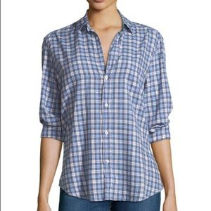 Frank and Eileen blue plaid button down